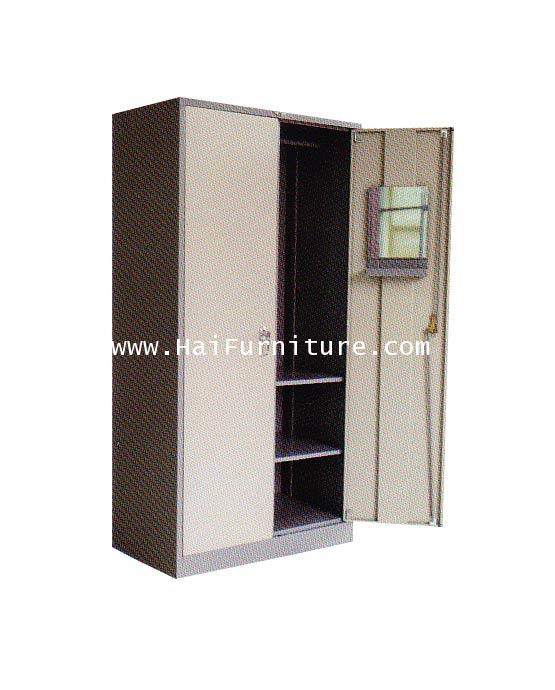 ตู้เสื้อผ้า 2 บานเปิด (กั้นกลาง 3 ฟุต) WD-LK2C Elegant 91.4*53.2*183 ซม.