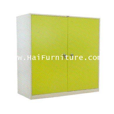 ตู้เสื้อผ้าเหล็ก 2 บานเปิดเตี้ย (กั้นกลาง 4 ฟุต) WD-LK4MINI Elegant 121.8*53.2*122.5 cm