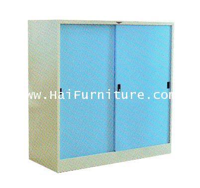 ตู้เสื้อผ้าเหล็กบานเลื่อนทึบเตี้ย (4ฟุต) Elegant WD-LK4MINI 121.8*53.2*120 cm