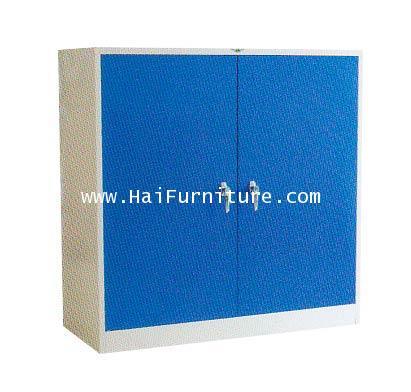 ตู้เสื้อผ้าเหล็ก 2 บานเตี้ย (4ฟุต) WD-LK4MINI Elegant 121.8*53.2*122.5 cm