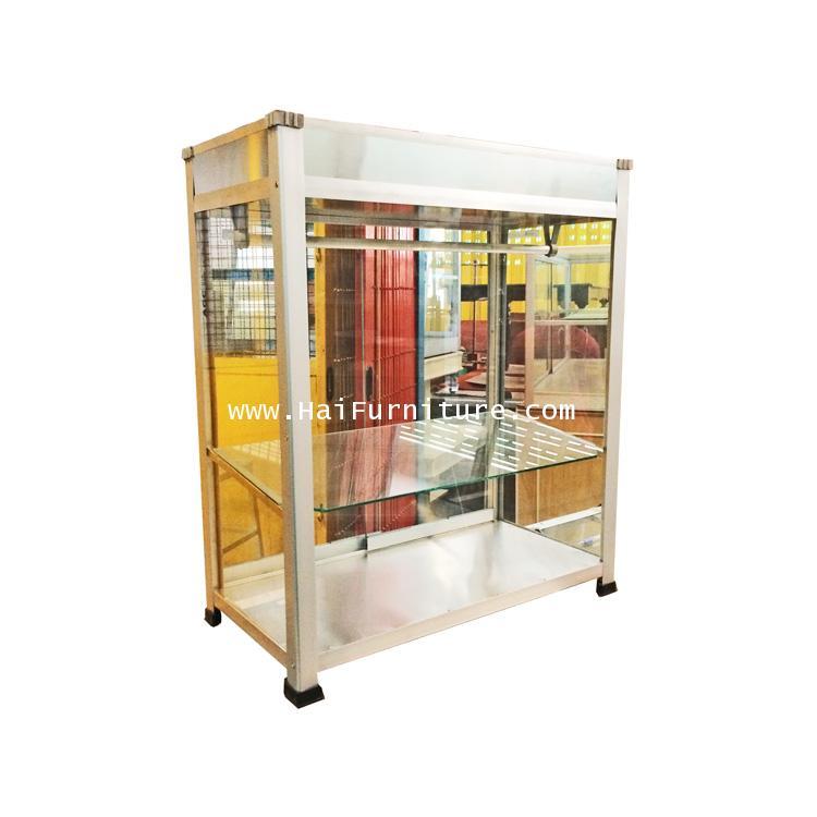 ตู้โชว์ขายอาหาร ตู้ขายก๋วยเตี๋ยว 24 นิ้ว หรือ 62 ซม. ทรงเตี้ย 62*31.5*72.5 ซม.