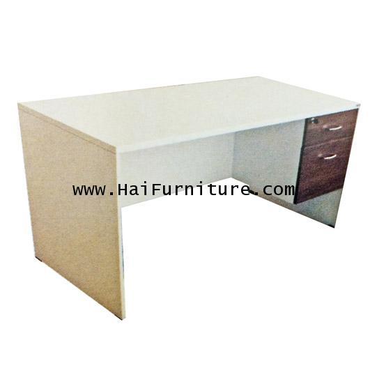 โต๊ะทำงานเมลามีน (ทั้งตัว) DS-1502 150*75*75 ซม.