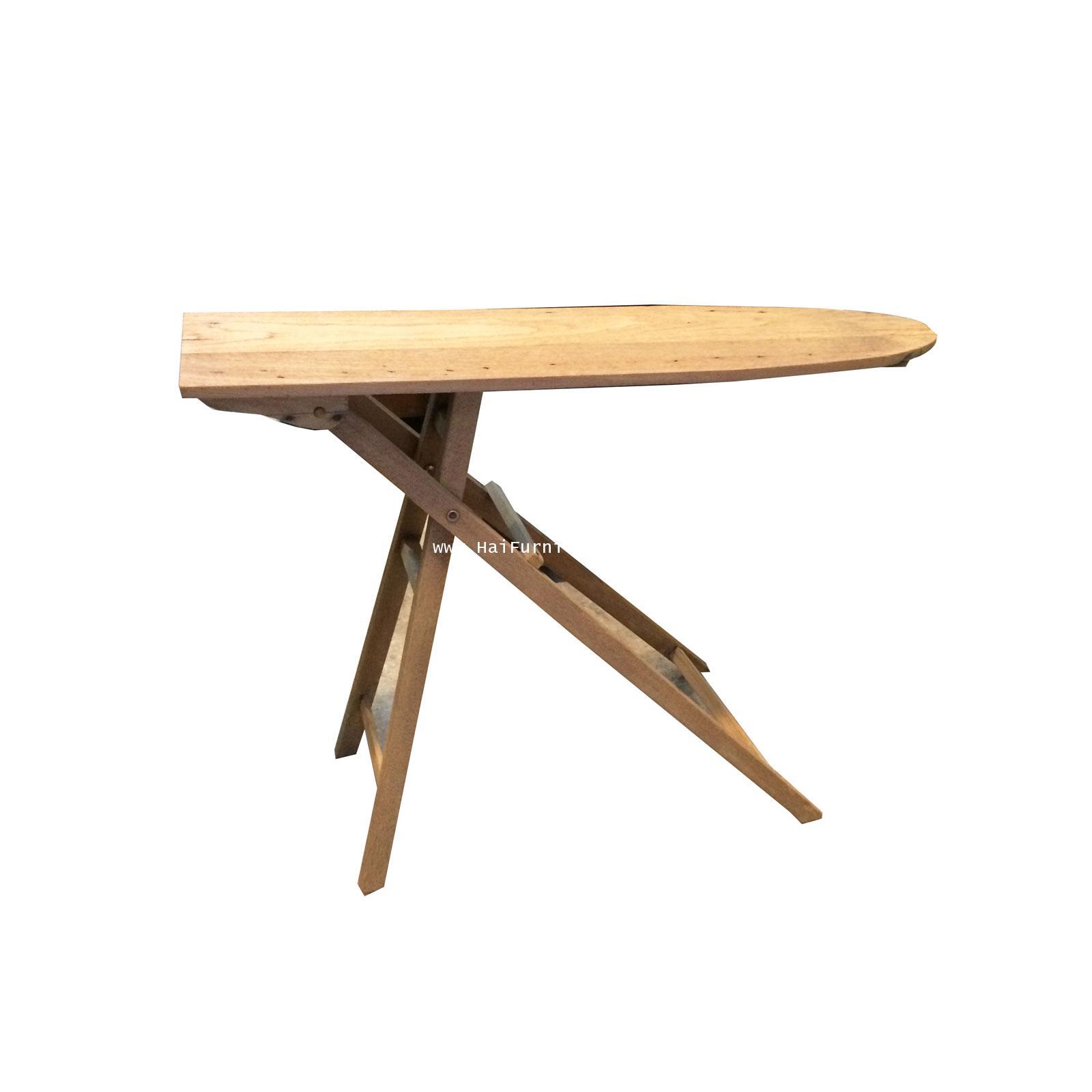 โต๊ะรีดผ้าไม้สักโบราณ ปี 1920 109.5*25*83.5 ซม.