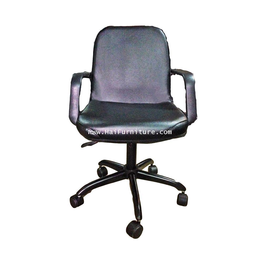 เก้าอี้เสมียน หนัง ขาเหล็ก โช๊คแก๊ส MO-126 Elegant 54*45*85 cm