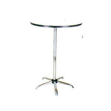 โต๊ะบาร์ หน้ากลม ขาเงา 60*110 ซม.