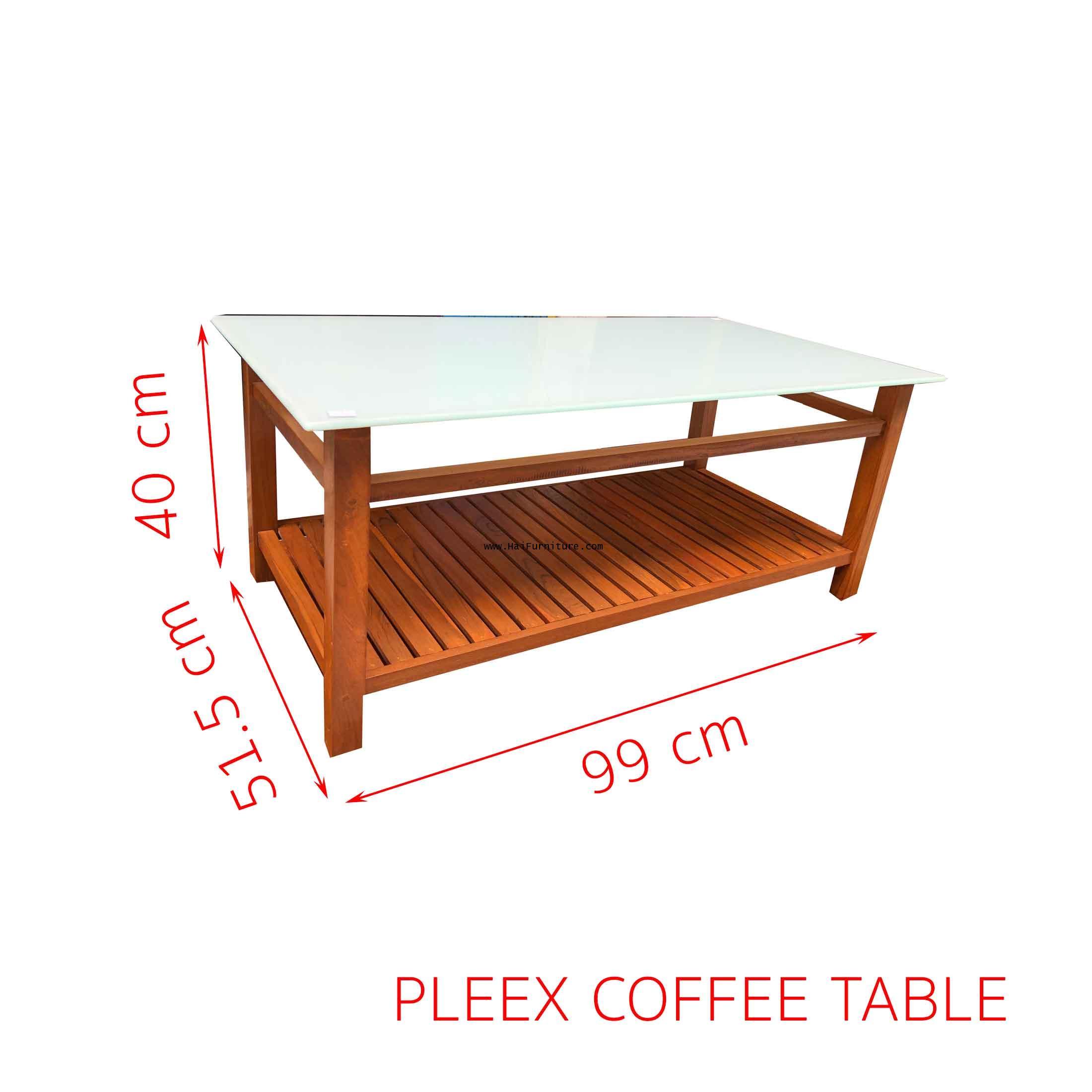 PLEEX COFFEE TABLE 99*51.5*40 CM