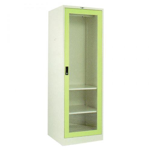 ตู้เสื้อผ้าเหล็กบานเดี่ยวกระจก 60 ซม. Grade B ก60*ล61*ล183 ซม.