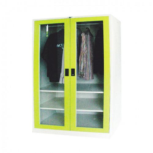 ตู้เสื้อผ้า 2 บานเปิด (กระจก) 4 ฟุต สูง Grade B w121.8*d53.3*h183 ซม.