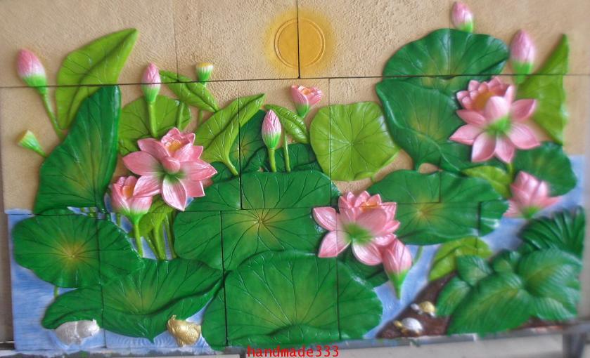 ดอกบัว จิ๊กซอ  (100 X 160 ซม.)