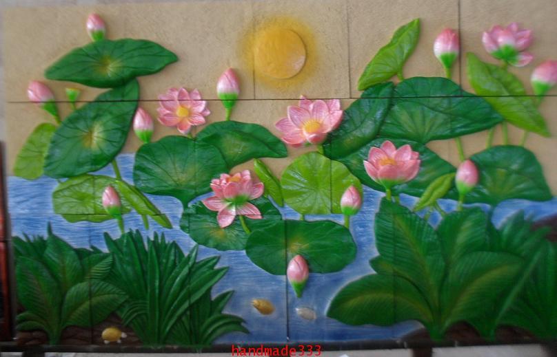 ดอกบัว จิ๊กซอ  (110 X 190 ซม.)