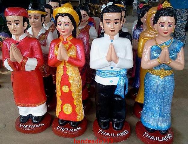 ตุ๊กตาอาเซี่ยน ไทย-เวียตนาม (ขายเป็นชุดๆละ 10 คู่/ 10 ชาติ )