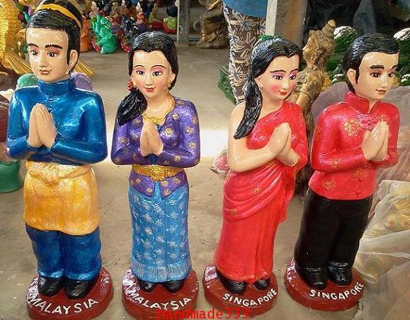 ตุ๊กตาอาเซี่ยน มาเลเซีย-สิงคโปร (ขายเป็นชุดๆละ 10 คู่/ 10 ชาติ )