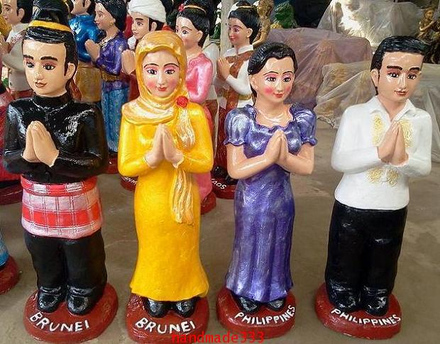 ตุ๊กตาอาเซี่ยน บรูไน-ฟิลิปินส์ (ขายเป็นชุดๆละ 10 คู่/ 10 ชาติ )