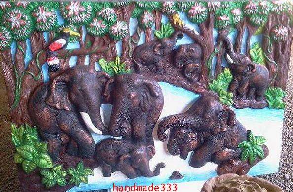 ช้าง 9 เชือก 60x90 ซม.