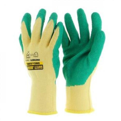 ถุงมือยาง SAFETY JOGGER รุ่น Constructo ขนาด XL สีเขียว - เหลือง