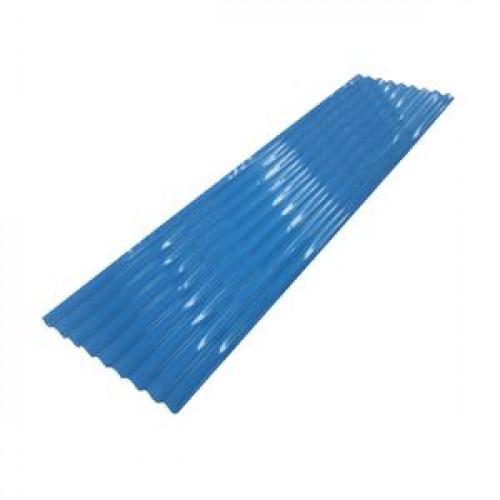 สังกะสีลอนเหลี่ยมเล็ก-สี 333 ขนาด 6 ฟุต สีน้ำเงิน
