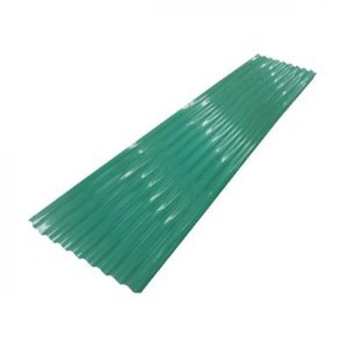 สังกะสีลูกฟูกลอนใหญ่-สี 333 ขนาด 10 ฟุต สีเขียว