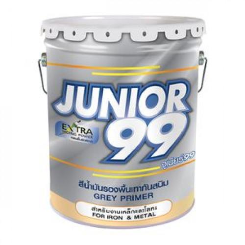 สีน้ำมันรองพื้นกันสนิมเทา NIPPON รุ่น จูเนียร์99 ขนาด 17.5 ลิตร. สีเทา