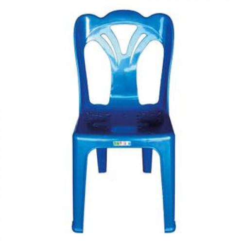 เก้าอี้พนักพิง เกรดเอ BIG ONE รุ่น KING 361 ขนาด 43 x 43 x 83 ซม. สีน้ำเงิน