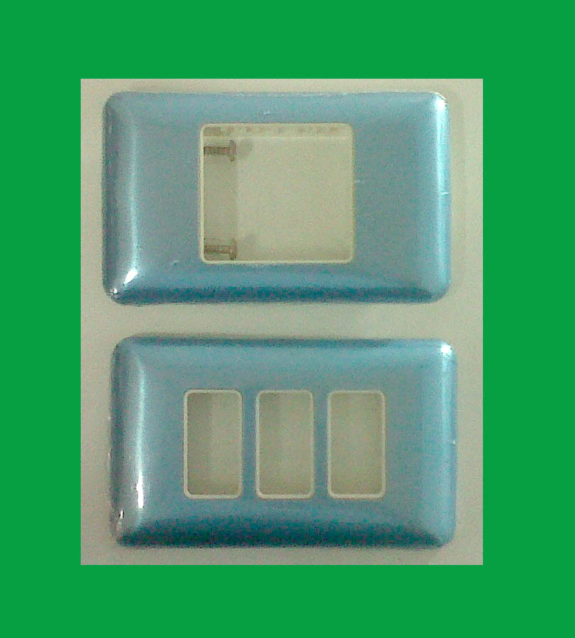 ฝา bticino 1ช่องและ 3 ช่อง สีฟ้า