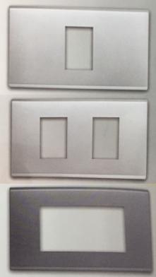 ฝา 1-3 ช่อง สีเงิน + สีเทา