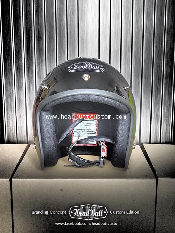 Headbutt Helmet / Solid Black (สีดำเงา)