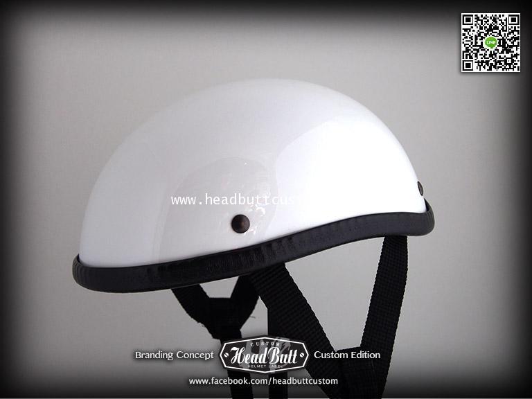 HB Half Helmet * White Color