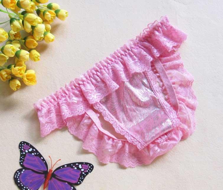 OP-023-P กางเกงในเปิดก้นสีชมพูอ่อน สวยเซ็กซี่