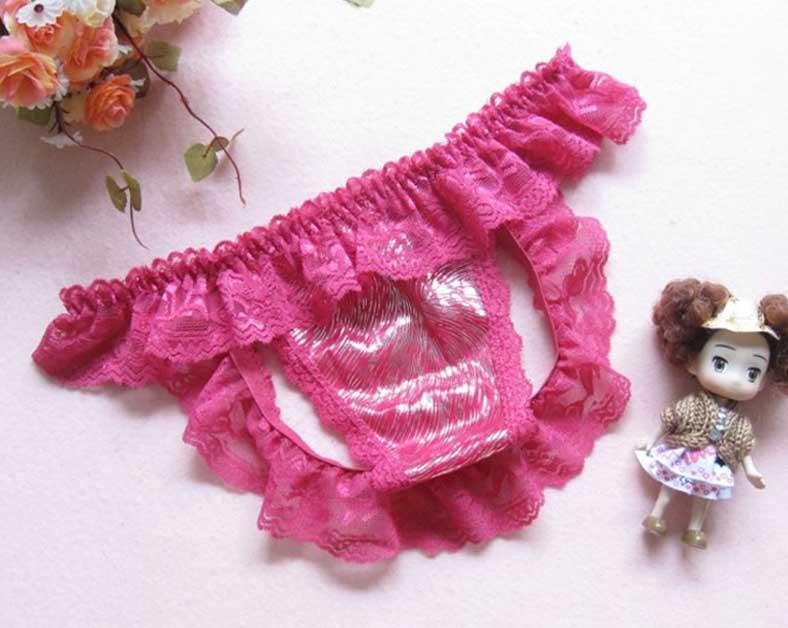 OP-023-PD กางเกงในเปิดก้นสีชมพูเข้ม สวยเซ็กซี่เร้าใจ