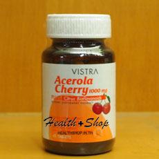 Vistra Acerola Cherry  1000mg (วิสทร้า อะเซโรลา เชอร์รี่ 1000มก.) 45tab
