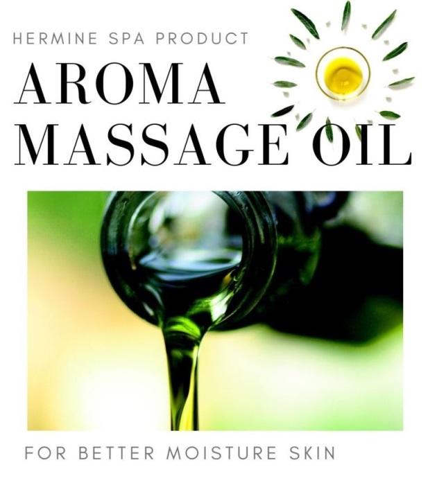 เฮอร์มีนน้ำมันนวดอโรม่ากลิ่นรีเฟรซซิ่ง /Hermine Aroma Massage Oil - Refreshing 1 ลิตร