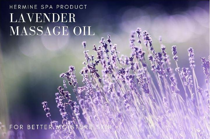 เฮอร์มีนน้ำมันนวดอโรม่ากลิ่นลาเวนเดอร์ /Hermine Aroma Massage Oil - Lavender 1 ลิตร