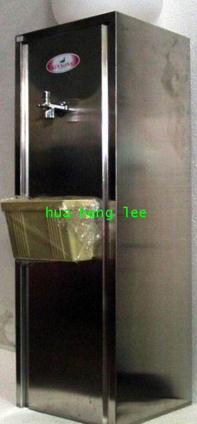 ตู้น้ำเย็นแสตนเลส แบบตั้งพื้นใช้ขวดคว่ำ 1 หัวก๊อก ยี่ห้อ \'KINXONS\' CS111101