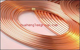 แป๊ปทองแดง ชนิดม้วน ขนาดรู 1/2 นิ้ว หนา 0.70มม.