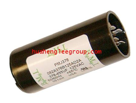 สตาร์ท คาปาซิเตอร์ - แคปสตาร์ท (ตัวพลาสติกกลม สีดำ) หัวเสียบ 108-130uF 220V