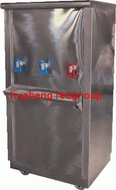 ตู้น้ำร้อน-เย็นแสตนเลส แบบต่อท่อประปา 3 ก๊อก (ร้อน 1 เย็น 2) ยี่ห้อ \'KINXONS\' CS212103 ไร้สารตะกั่