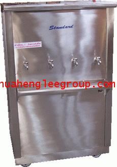 ตู้น้ำร้อน-เย็นแสตนเลส แบบต่อท่อประปา 4 ก๊อก (ร้อน 1 เย็น 3) ยี่ห้อ \'KINXONS\' CS212104 ไร้สารตะกั่