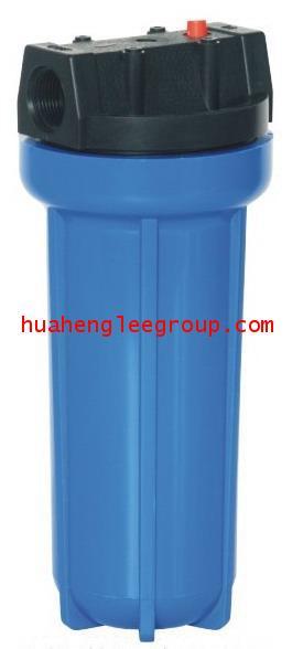 เครื่องกรองน้ำ Housing ท่อเดี่ยว พลาสติกทึบ 10นิ้ว ท่อน้ำเข้า-ออก 3/4นิ้ว (6หุน)