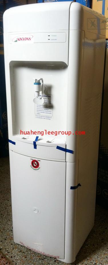 ตู้น้ำเย็น พลาสติก แบบต่อท่อประปา 1 หัวก๊อก พร้อมเครื่องกรองน้ำในตัวระบบ 4 ขั้นตอน ยี่ห้อ \'KINXONS