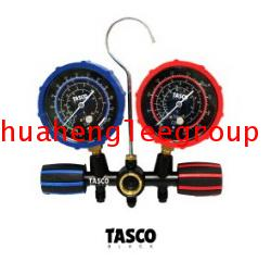 เกจ์คู่สำหรับชาร์จน้ำยาพร้อมสาย 60 นิ้ว 3 เส้น (R12,R22,R134a,R404a) TASCO BLACK รุ่น TB120SM