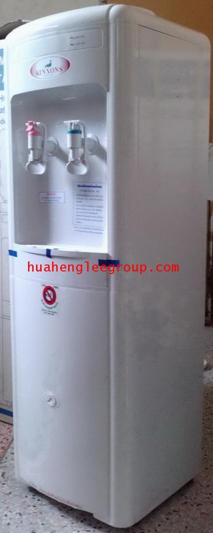 ตู้น้ำร้อน-เย็นพลาสติก แบบตั้งพื้นใช้ขวดคว่ำ 2 หัวก๊อก (ร้อน-เย็น) ยี่ห้อ \'KINXONS\' รุ่น CS122101(