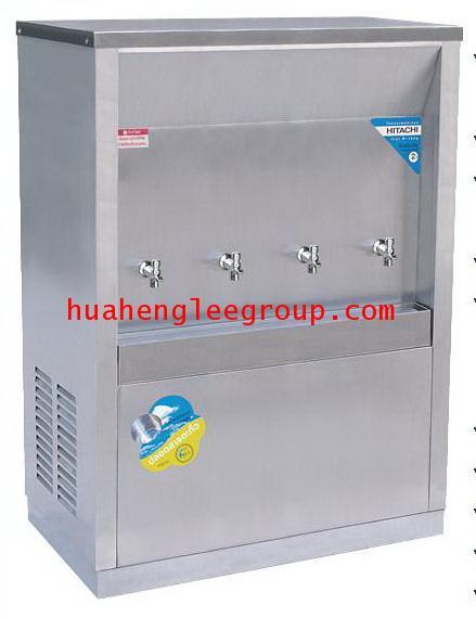 ตู้ทำน้ำร้อน-เย็น สเตนเลส แบบต่อท่อประปา 4 ก๊อก หน้าเว้า (เย็น3 ร้อน1) (MCH-4P) MAXCOOL