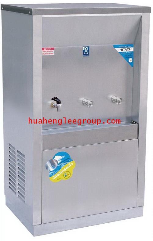 ตู้ทำน้ำร้อน-เย็น สเตนเลส แบบต่อท่อประปา 3 ก๊อก หน้าเว้า (เย็น2 ร้อน1) (MCH-3P) MAXCOOL
