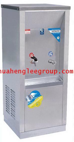 ตู้ทำน้ำร้อน-เย็น สเตนเลส แบบต่อท่อประปา 2 ก๊อก หน้าเว้า (MCH-2P) MAXCOOL