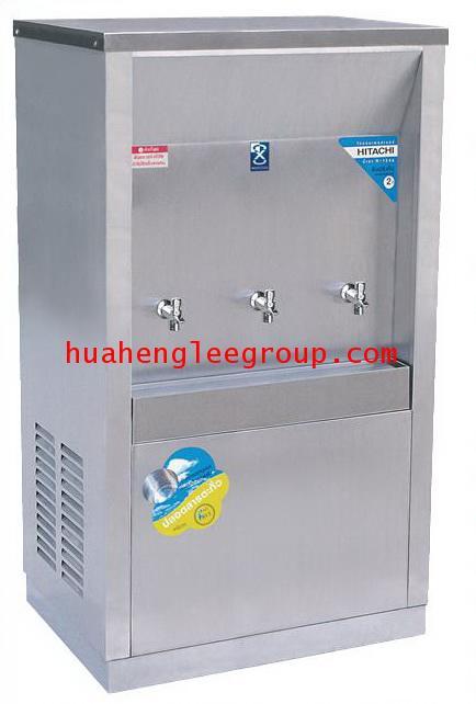 ตู้ทำน้ำเย็น สเตนเลส แบบต่อท่อประปา 3 ก๊อก หน้าเว้า (MC-3P) MAXCOOL