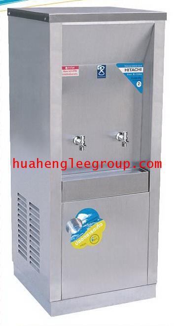 ตู้ทำน้ำเย็น สเตนเลส แบบต่อท่อประปา 2 ก๊อก หน้าเว้า (MC-2P) MAXCOOL