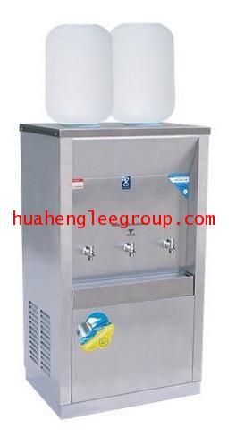 ตู้ทำน้ำเย็นสเตนเลส 3 ก๊อก แบบใช้ขวดคว่ำ 2 ขวด (MC-3P) MAXCOOL