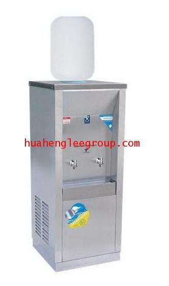 ตู้ทำน้ำเย็นสเตนเลส 2 ก๊อก แบบใช้ขวดคว่ำ 1 ขวด (MC-2P) MAXCOOL