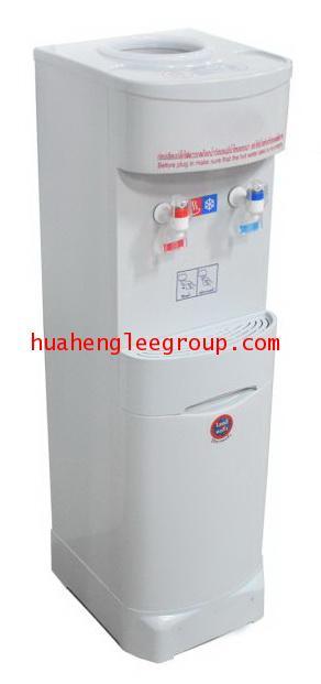 ตู้น้ำร้อน-เย็นพลาสติก แบบตั้งพื้นใช้ขวดคว่ำ 2 หัวก๊อก (ร้อน-เย็น) ยี่ห้อ \'KINXONS\' รุ่น CS122102