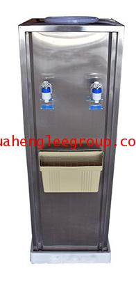 ตู้น้ำเย็นแสตนเลส แบบตั้งพื้นใช้ขวดคว่ำ 2 หัวก๊อก ยี่ห้อ \'KINXONS\' CS111102